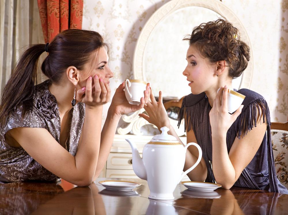 За разговорами за чаем