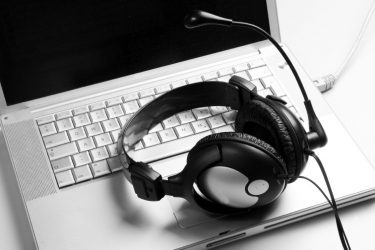 bw headphone at desk